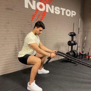 Cardio battle rope Nonstop Training PT