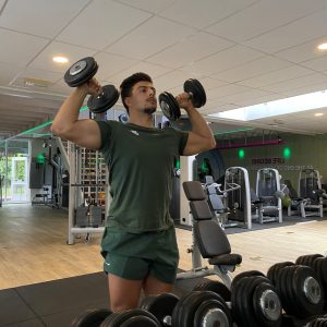 personal trainer purmerend dumbbell row